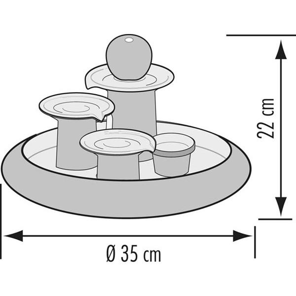 Seliger Zimmerbrunnen Locarno, Ø 35 x 22 cm