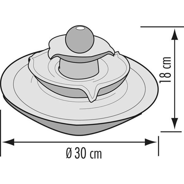 Seliger Zimmerbrunnen Pisa, Ø 30 x 18 cm