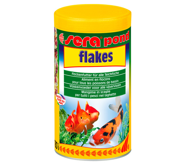 Sera pond flakes fischfutter 1000 ml dehner for Bunte teichfische