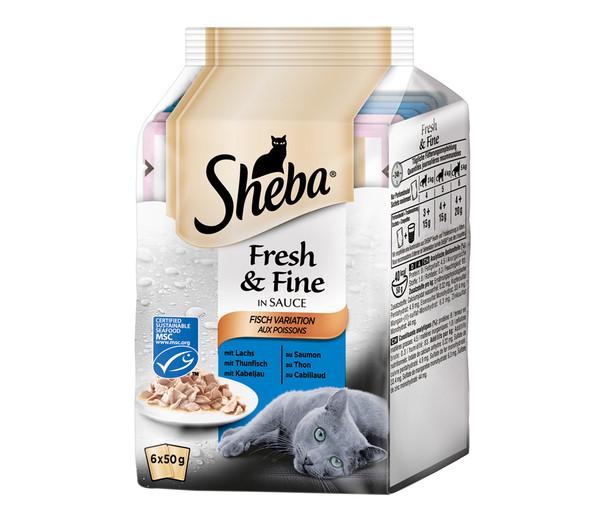 Sheba® Fresh & Fine, Nassfutter, 6 x 50 g