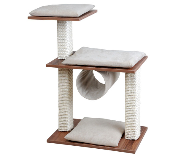 Silvio Design Kratzbaum Cosy Walnuss, 86 cm