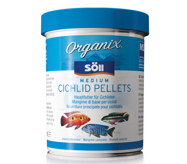 Söll Organix Medium Cichlid Pellets , 490ml