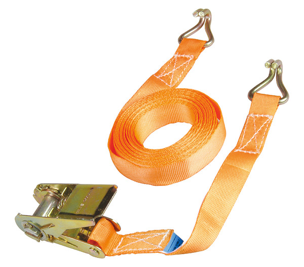 Spanngurt bis 500 kg, rot/orange, 5 m