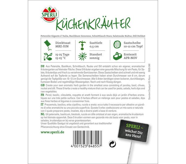 SPERLI Saatscheiben Küchenkräuter-Sortiment, 5 Stück