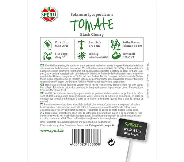 SPERLI Samen Tomate 'Black Cherry'
