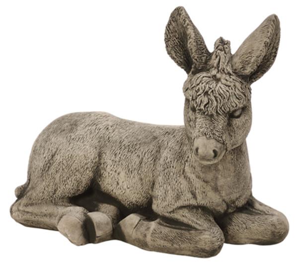 Stein-Esel, antik grau-grün, 30 x 15 x 27 cm
