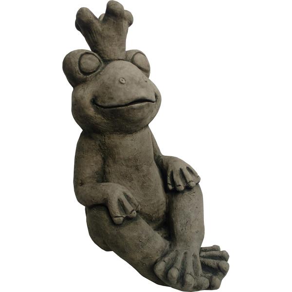 Stein-Froschkönig, ca. B26/H52/T32 cm
