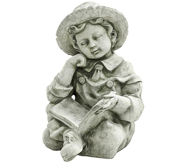 Stein-Junge im Schneidersitz, 31 x 30 x 43 cm