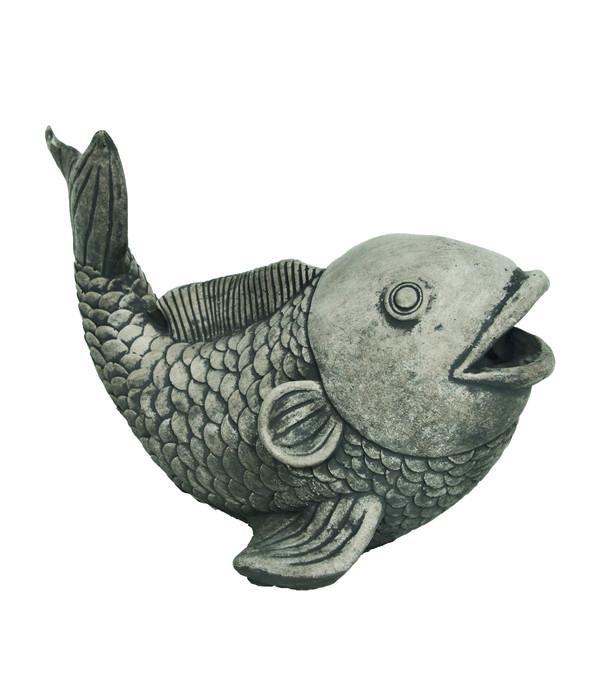 Stein-Wasserspeier Fisch, ca. B17/H22/T34 cm