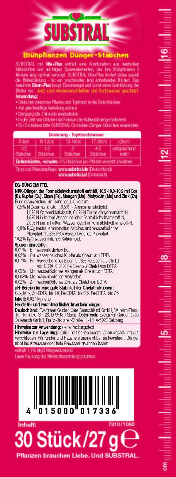 Substral® Blühpflanzen Dünger-Stäbchen, 30 Stk.