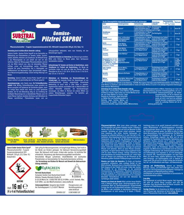 Substral® Celaflor® Gemüse-Pilzfrei SAPROL®, 4x 4 ml