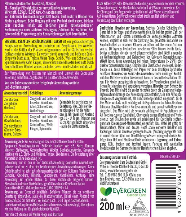Substral® Celaflor® Schädlingsfrei Careo® für Orchideen & Zierpflanzen, 200 ml
