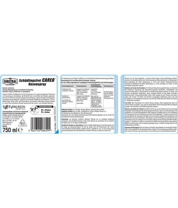 Substral® Celaflor® Schädlingsfrei Careo® Rosenspray, 750 ml
