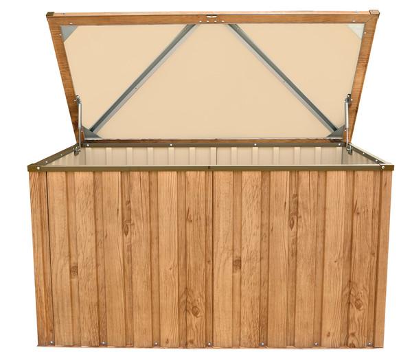 tepro Metall Gerätebox, Eiche Dekor, ca. 134 x 73 x 73 cm
