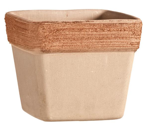 Terrakotta-Topf, quadratisch, terrakotta-antik