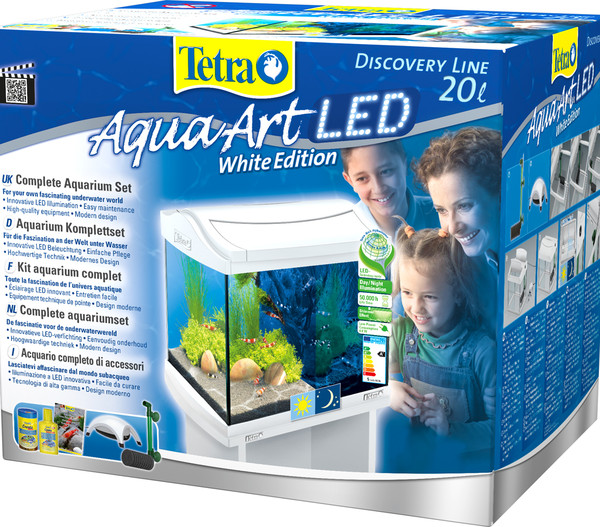 Tetra AquaArt LED Aquarium Shrimps, 20 Liter, weiß
