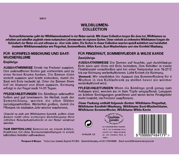 Thompson & Morgan Samen 'Wildblumen-Collection'
