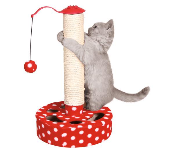 Trixie Katzenspielzeug Fleece-Spielbaum
