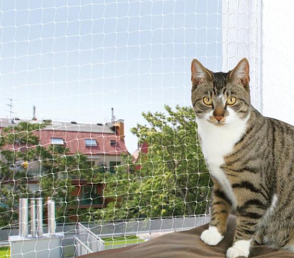 Trixie Katzenzubehör Schutznetz transparent