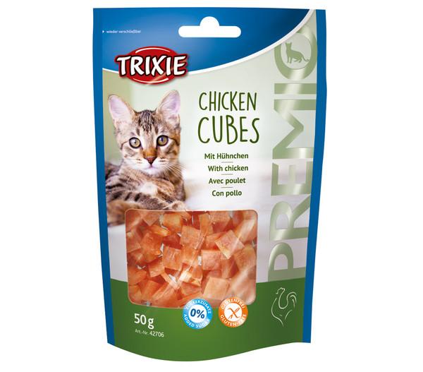 Trixie Premio Chicken Cubes, Katzensnack, 50 g