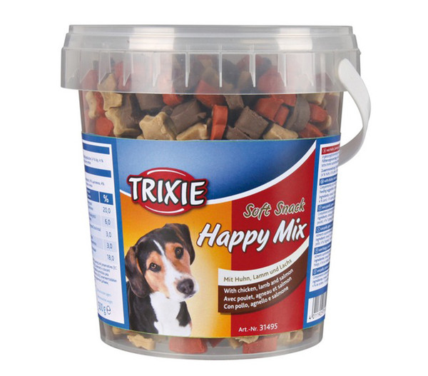 Trixie Soft Snack Happy Mix, Hundensack, 500g