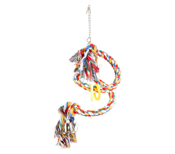 Trixie Spielzeug Tau-Sitzspirale für Vögel, 50 cm