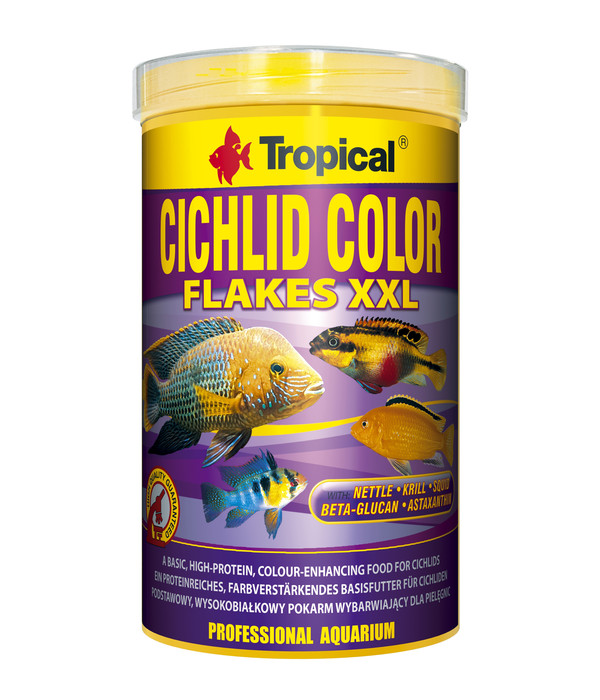 Tropical® Fischfutter Cichlid Color Flakes XXL