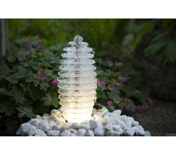 Ubbink Acryl-Gartenbrunnen Mires, Ø 20 x 45 cm