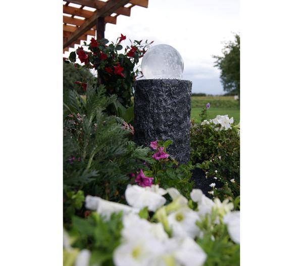 Ubbink Granit/Glas-Gartenbrunnen Las Palmas, Ø 20 x 35 cm