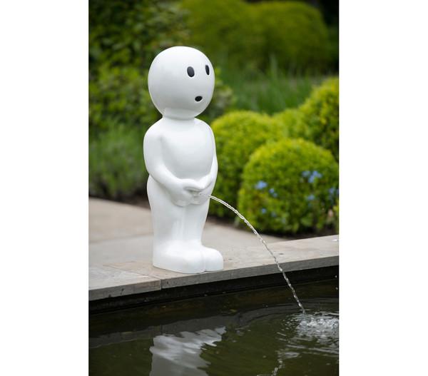 Ubbink Polystone-Wasserspeier Boy groß, 25 x 23 x 67 cm