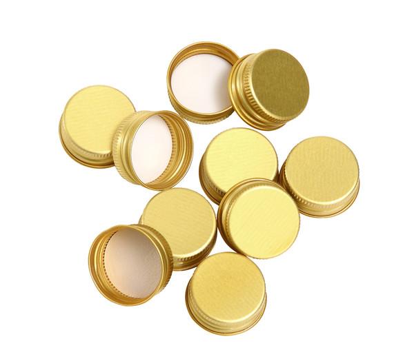 Verschlusskappen gold, 10 Stück