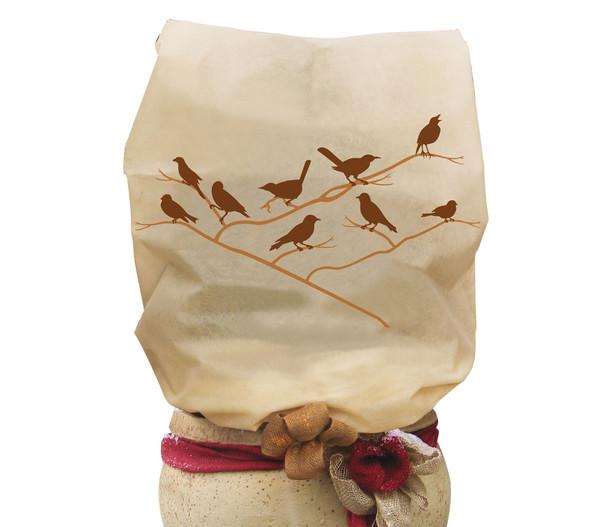 Videx Vlieshaube Vögel, 180 cm, beige