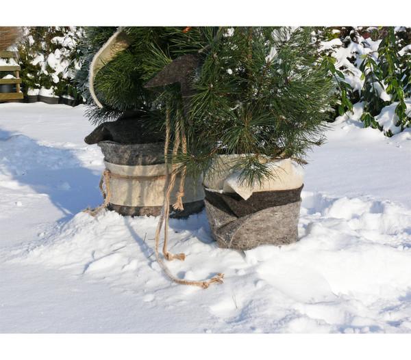 Videx Winterschutz Schafwollmatte, dunkelbraun