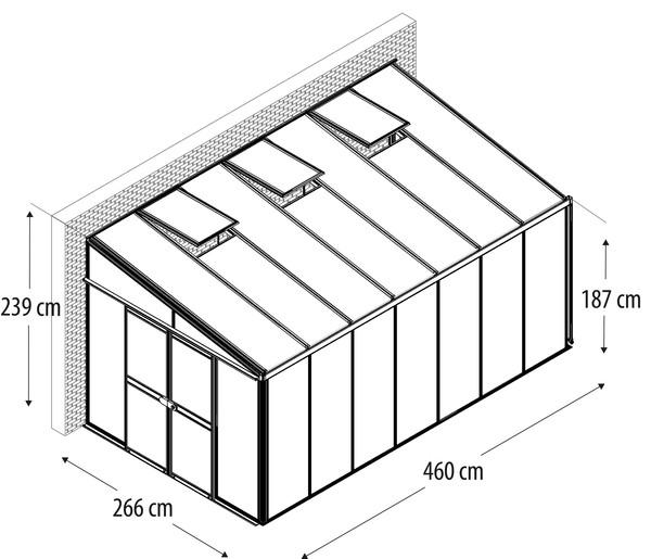 Vitavia Gewächshaus Athene 11900