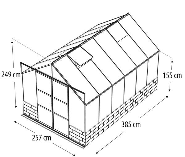 Vitavia Gewächshaus Cassiopeia 9900, ESG/HKP, inkl. Sockel Sandstein