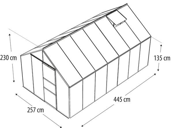 Vitavia Gewächshaus Neptun 11500, ESG/HKP