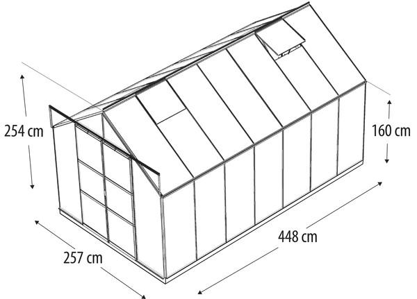 Vitavia Gewächshaus Phönix 11500, ESG/HKP, inkl. Fundament