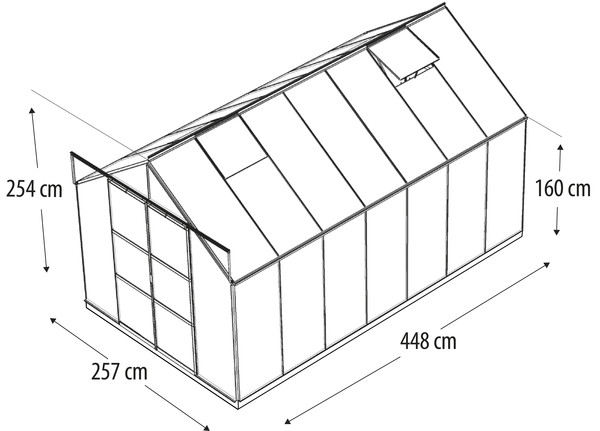 Vitavia Gewächshaus Phönix 11500, HKP, inkl. Fundament