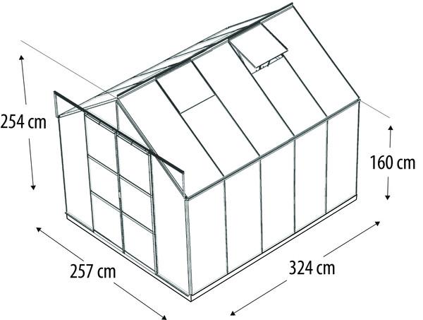 Vitavia Gewächshaus Phönix 8300, ESG/HKP, inkl. Fundament