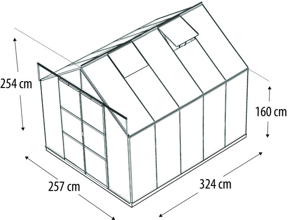 Vitavia Gewächshaus Phönix 8300, ESG/NSG, inkl. Fundament