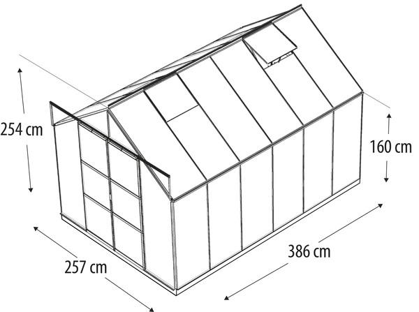 Vitavia Gewächshaus Phönix 9900, ESG/HKP, inkl. Fundament