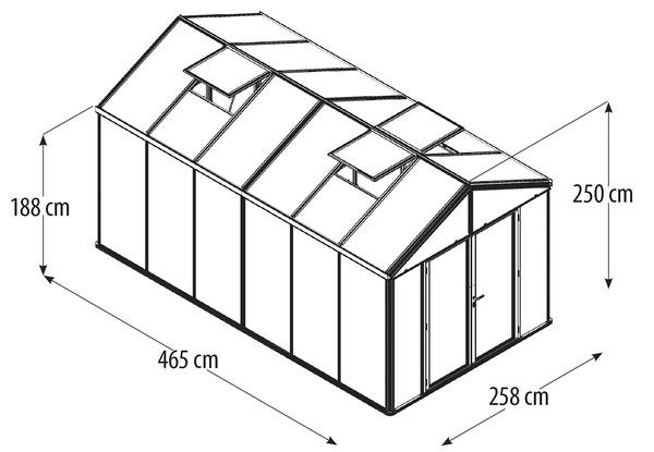 Vitavia Gewächshaus Poseidon 11900, HKP