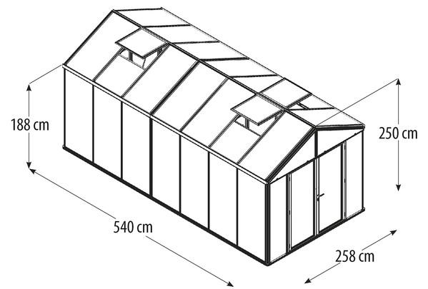 Vitavia Gewächshaus Poseidon 13800, HKP