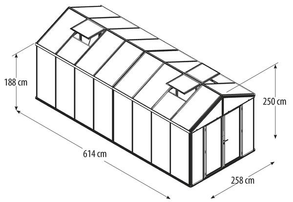Vitavia Gewächshaus Poseidon 15700, HKP