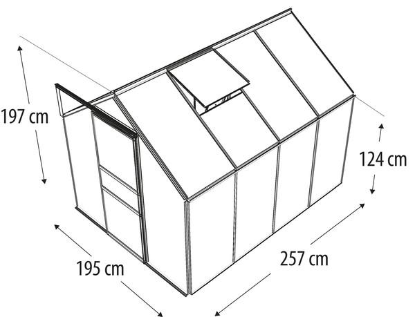 Vitavia Gewächshaus Primus 5000, HKP