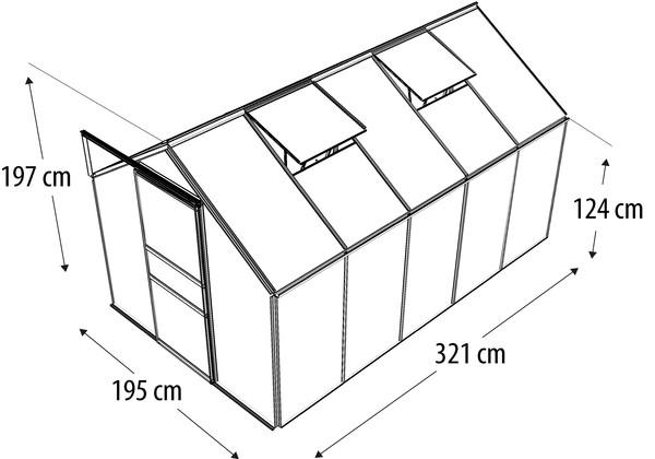 Vitavia Gewächshaus Primus 6200, ESG