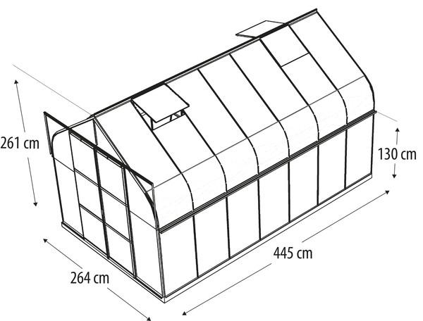 Vitavia Gewächshaus Saturn 11500, inkl. Fundament