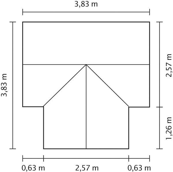 Vitavia Gewächshaus Stellar, ESG/NSG, inkl. Fundament