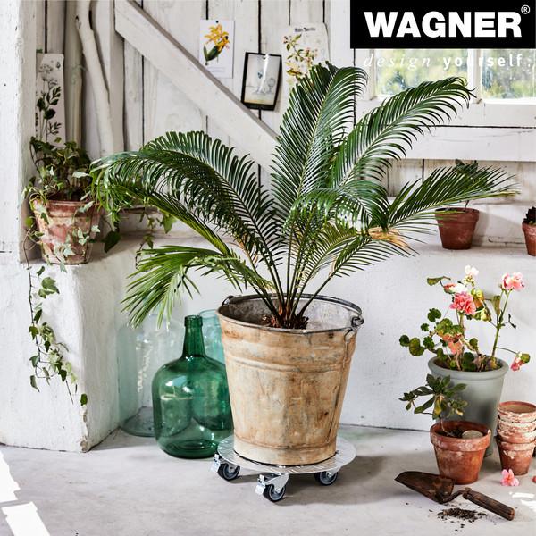 Wagner Pflanzenroller Alaska, 30 cm, grau