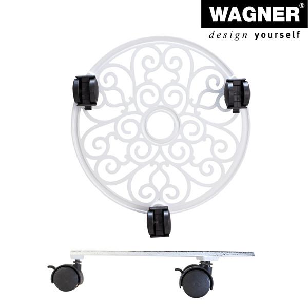 Wagner Pflanzenroller Antik, Ø 29 cm, weiß